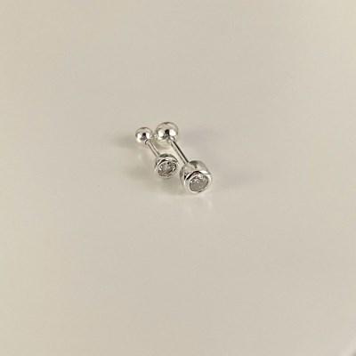 (silver 92.5) 큐빅 피어싱