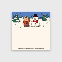 Covy and snowman(떡메모지)_(1725373)