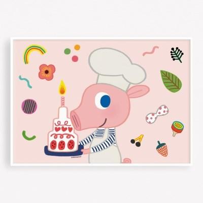 굴리굴리 포스터 CAKE DAISY (066)