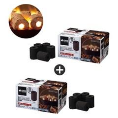 로고스 1+1 코코넛 숯 바베큐 차콜 30 83100105s BBQ 활성탄 야자숯