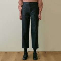 LEATHER BAKER PANTS_BLACK