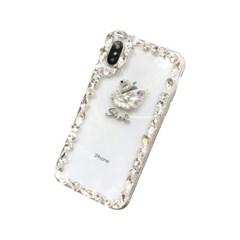 갤럭시S21플러스 스완 다이아몬드 젤리 케이스 P165_(3482877)