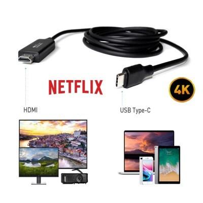 플레오맥스 미러링케이블 TV연결 HDMI 4K UHD 넷플릭스 왓챠 지원