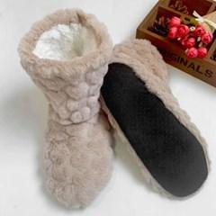 털실내화 겨울 발보온 수족냉증 털복실 패턴룸슈즈