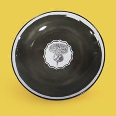 비스타 알레그레 허벌리아 디저트 접시 23cm_블랙