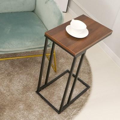 비블코리아 ㄷ자테이블 메탈 사이드 사각테이블 엔틱 보조테이블