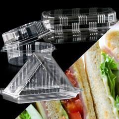 고급 샐러드 샌드위치 박스 지 포장 용기 케이스