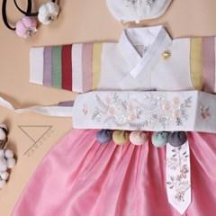 한설한복1731.S 핑크핑쿠 색동 여아유아동한복