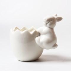 미미네가든 토끼모양 화이트 화분_(1229183)