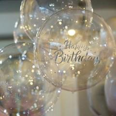 생일축하 버블풍선 레터링 스티커