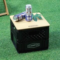 제이픽스 캄푸스 감성캠핑 수납 Milk Box + 자작상판