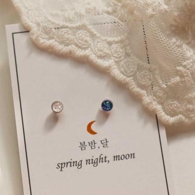 [봄밤달] 작은 별의 조각 피어싱 (귀걸이침 변경가능)