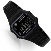레트로 디지털 올블랙 손목시계