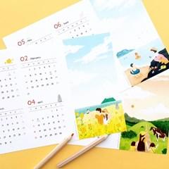 제이로그 2021 쁘띠 포스터 캘린더 - 멘도롱제주