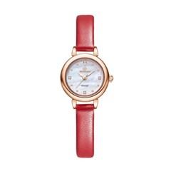 [본사정품] 디유아모르 DAW3102L-RD 가죽 여성시계