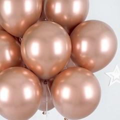 헬륨풍선효과 크롬벌룬 로즈골드 [50개묶음]_(12184834)