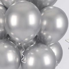 헬륨풍선효과 크롬벌룬 실버 [50개묶음]_(12184832)