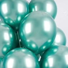 헬륨풍선효과 크롬벌룬 민트그린 [50개묶음]_(12184830)