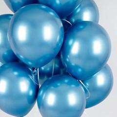 헬륨풍선효과 크롬벌룬 블루 [50개묶음]_(12184829)