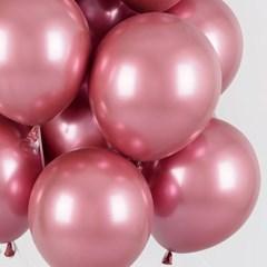 헬륨풍선효과 크롬벌룬 핑크 [50개묶음]_(12184827)