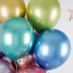 헬륨풍선효과 크롬벌룬 혼합 [50개묶음]_(12184825)