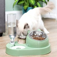 깨끗한 스테인레스 그릇 반자동급수 반려동물 밥그릇
