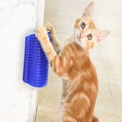 간편한 벽면설치 고양이 셀프 그루밍 브러쉬