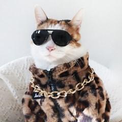 호피무늬 자켓 코트 고양이옷 강아지옷 설빔 할로윈 선물 MIYOPET