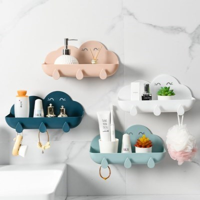 탈부착 고리 욕실 사용 가능 다용도 구름모양 선반