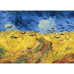 1000피스 직소퍼즐 - 까마귀가 있는 밀밭 (초미니)