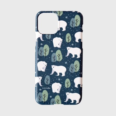 캣스타그램 눈 내리는 숲의 흰곰 케이스