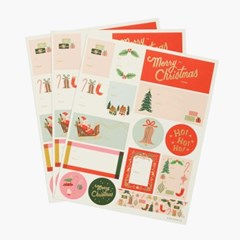 Deck the Halls Stickers & Labels 기프트 스티커 3 Sheets_(432751)