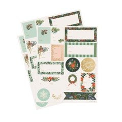 Winter Floral Holiday 기프트 스티커 3 Sheets_(432749)