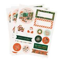 Season`s Greetings Holiday 기프트 스티커 3 Sheets_(432748)
