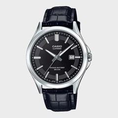 [CASIO] 카시오 MTS-100L-1A 남성 가죽밴드 손목시계