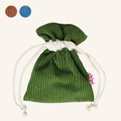 Corduroy String Pouch (3colors)