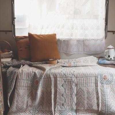 북유럽 에스닉 포근한 감성블랭킷 캠핑담요 소파커버 (150x200)