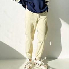 봄 밴딩 고무줄 넓은통 캐쥬얼 컬러 배기 조거팬츠