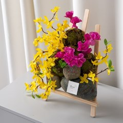 바위틈봄소식화환set 35cmP 조화 꽃 인테리어 FMFUFT