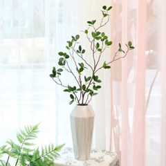 [반짝조명] 초록 잎 가지 조화