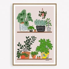 굴리굴리 포스터 POTTED PLANTS (069)