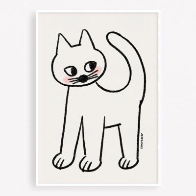 굴리굴리 포스터 SOFT CAT (068)