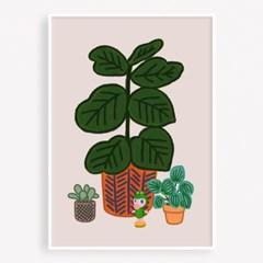 굴리굴리 포스터 Deep Olive Green (067)