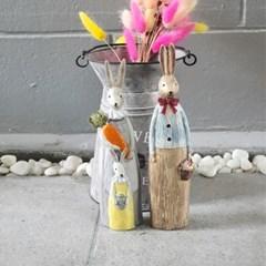 따듯한 앤틱풍 귀여운 목각 토끼 인테리어 장식 소품