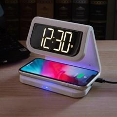 일타삼피 UV살균 알람시계 겸용 고속 무선충전기