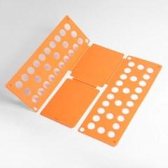 초간단 옷접기 폴더(오렌지) 티셔츠 옷정리판