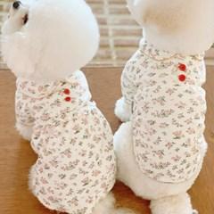 딸기수면조끼 애견수면조끼 강아지겨울옷 애견잠옷