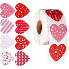 발렌타인 하트 스티커 롤 (500매입)