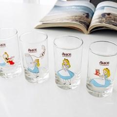 모애 레트로감성 홈카페 디자인 이상한 나라의 앨리스 유리컵