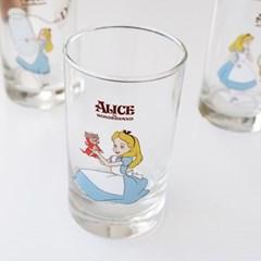 모애 레트로감성 홈카페 디자인 이상한 나라의 앨리스D 유리컵